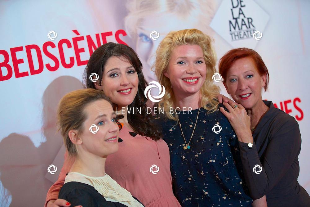 AMSTERDAM - In theater DeLaMar werd de nieuwe zomerkomedie aangekondigd genaamd 'Bedscènes'. Met op de foto  vlnr Lies Visschedijk, Tina de Bruin, Tjitske Reidinga en Loes Luca. FOTO LEVIN DEN BOER - PERSFOTO.NU