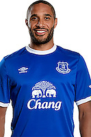HALEWOOD, ENGLAND - AUGUST 09: (EXCLUSIVE COVERAGE) New Everton signing Ashley Williams poses for a photo at Finch Farm on August 09, 2016 in Halewood, England.  (Photo by Tony McArdle/Everton FC via Getty Images)