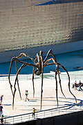 Guggenheim Museum and giant spider sculpture 'Maman' in Bilbao, Spain