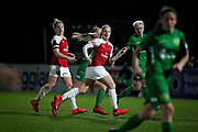 Arsenal midfielder Kim Little (10) and Arsenal forward Beth Mead (23) during the FA Women's Super League match between Arsenal Women and Yeovil Town Women at Meadow Park, Borehamwood, United Kingdom on 20 February 2019.