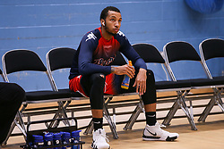 Gentry Thomas of Bristol Flyers looking relaed during the warm up - Photo mandatory by-line: Arron Gent/JMP - 02/11/2019 - BASKETBALL - Surrey Sports Park - Guildford, England - Surrey Scorchers v Bristol Flyers - British Basketball League Cup