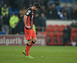 Bournemouth's Andrew Surman looks dejected at the final whistle. - Photo mandatory by-line: Alex James/JMP - Mobile: 07966 386802 - 17/03/2015 - SPORT - Football - Cardiff - Cardiff City Stadium - Cardiff City v AFC Bournemouth - Sky Bet Championship