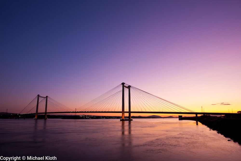 On the night that I photographed the Cable Bridge, I arrived early enough to capture some sunset photos.