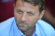 Aston Villa's Manager Tim Sherwood during the Barclays Premier League match between Bournemouth and Aston Villa at the Goldsands Stadium, Bournemouth, England on 8 August 2015. Photo by Mark Davies.