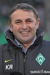 04.12.2010, Volkswagen Arena, Wolfsburg, GER, 1.FBL, VfL Wolfsburg vs Werder Bremen, im Bild Manager Klaus Alofs (Bremen) ist froehlich. EXPA Pictures © 2010, PhotoCredit: EXPA/ nph/  Witke       ****** out ouf GER ******