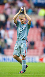 SUNDERLAND, ENGLAND - Saturday, August 16, 2008: Liverpool's Dirk Kuyt after the opening Premiership match against Sunderland of the season at the Stadium of Light. (Photo by David Rawcliffe/Propaganda)