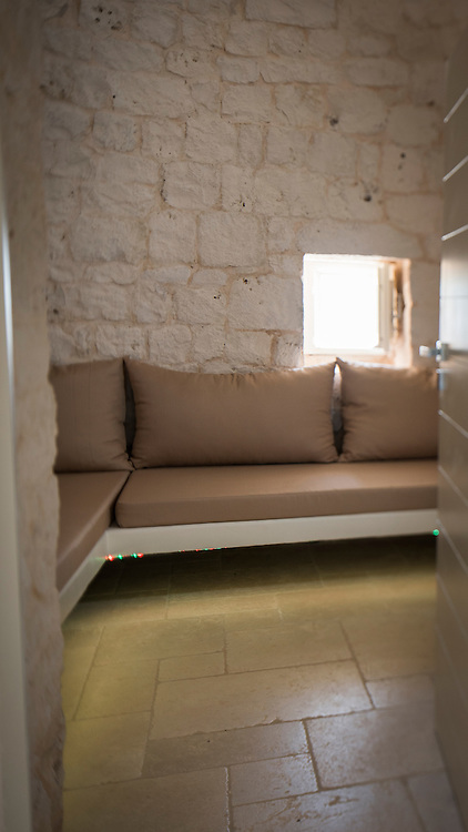 Images of the Internal decor of the Luxury Trullo Capo di Gallo