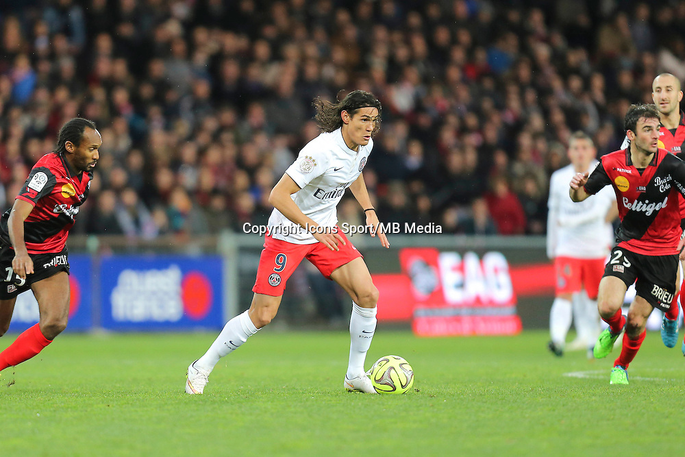 Edinson CAVANI - 14.12.2014 - Guingamp / Paris Saint Germain - 18eme journee de Ligue 1<br />