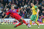 London - Tuesday, January 1st, 2008: James Scowcroft (L) of Crystal Palace and Mark Fotherington (R) of Norwich City during the Coca Cola Championship match at Selhurst Park, London. (Pic by Mark Chapman/Focus Images)