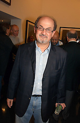SALMAN RUSHDIE at a private view of an exhibition of portrait photographs by Danish photographer Marc Hom held at the Hamiltons Gallery, 13 Carlos Place, London on 23rd October 2006.<br /><br />NON EXCLUSIVE - WORLD RIGHTS