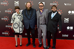 Left to Right Alex Helfrecht (Director), Olafur Darri Olaffssohn (Actor), Jorg Tittel (director) on the red carpet at the 2016 Edinburgh International Film Festival, WORLD PREMIERE of The White King at Cineworld, Edinburgh18th June 2016, (c) Brian Anderson | Edinburgh Elite media