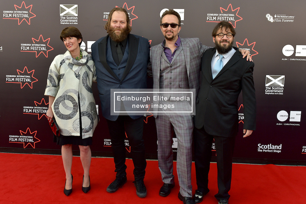 Left to Right Alex Helfrecht (Director), Olafur Darri Olaffssohn (Actor), Jorg Tittel (director) on the red carpet at the 2016 Edinburgh International Film Festival, WORLD PREMIERE of The White King at Cineworld, Edinburgh18th June 2016, (c) Brian Anderson | Edinburgh Elite media