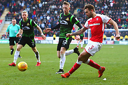 Joe Mattock of Rotherham United crosses the ball - Mandatory by-line: Ryan Crockett/JMP - 24/02/2018 - FOOTBALL - Aesseal New York Stadium - Rotherham, England - Rotherham United v Doncaster Rovers - Sky Bet League One