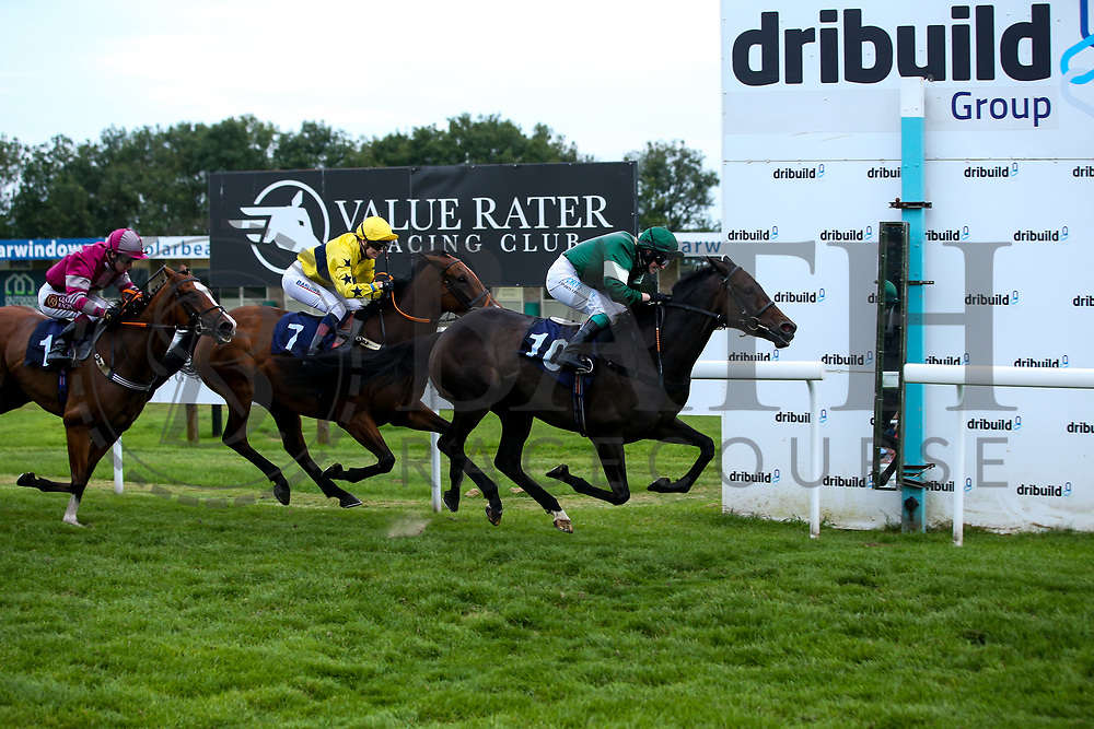 "Valentune Mist ridden by Sophie Ralston trained by James Grassick wins the Play """"Four From The Top"""" at Valuerater.co.uk Handicap - Mandatory by-line: Robbie Stephenson/JMP - 27/08/2019 - PR - Bath Racecourse - Bath, England - Race Meeting at Bath Racecourse"