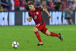 October 6, 2017 - Orlando, Florida, USA - United States midfielder Paul Arriola (21) brings the ball upfield during a World Cup qualifying game against Panama at Orlando City Stadium on Oct. 6, 2017 in Orlando, Florida. The US won 4-0....ZUMA Press/Scott A. Miller (Credit Image: © Scott A. Miller via ZUMA Wire)