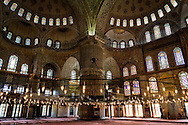 Interior of the Sultan Ahmed Mosque (The Blue Mosque)