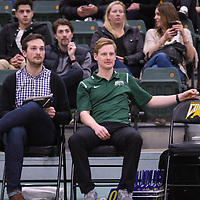 Assistant Coach Jacques Borgeaud of the Regina Cougars in action during Men's Volleyball home game on November 18 at Centre for Kinesiology, Health and Sport. Credit: /Arthur Images