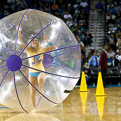 December 3, 2010; New Orleans, LA, USA; New Orleans Hornets Honeybees dancers perform in the Honeybee Olympics at halftime of a game against the New York Knicks at the New Orleans Arena. Mandatory Credit: Derick E. Hingle