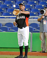 FIU Baseball Team Vs. Miami Marlins.  Third game played in the new Marlins Stadium.  The Marlins defeated the Golden Panthers 5-1.  Marlin starters Reyes, Bonafacio, Bell, Nolasco and Stanton all saw action.