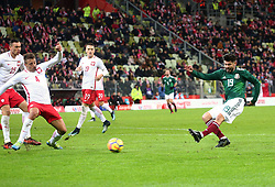 November 13, 2017 - Gdansk, Poland - Thiago Cionek and Oribe Peralta during the international friendly soccer match between Poland and Mexico at the Energa Stadium in Gdansk, Poland on 13 November 2017  (Credit Image: © Mateusz Wlodarczyk/NurPhoto via ZUMA Press)