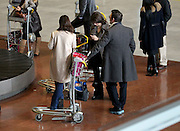 18.JANUARY.2012. PARIS<br /> <br /> SERGE HAZANAVICIUS (WHO WON A GOLDEN GLOBE FOR THE BEST COMEDY WITH &quot;THE ARTIST&quot;) AND HIS GIRLFRIEND BERENICE BEJO AT ROISSY CHARLES DE GAULLE AIRPORT WEDNESDAY MORNING  <br /> <br /> BYLINE: EDBIMAGEARCHIVE.COM<br /> <br /> *THIS IMAGE IS STRICTLY FOR UK NEWSPAPERS AND MAGAZINES ONLY*<br /> *FOR WORLD WIDE SALES AND WEB USE PLEASE CONTACT EDBIMAGEARCHIVE - 0208 954 5968*