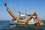 Two skimmer , one broken and the only boats Frank Pope saw during his trip on the Gulf of Mexico