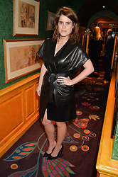 PRINCESS EUGENIE OF YORK at the launch of GP Nutrition held at Annabel's, 44 Berkeley Square, London on 26th January 2016.