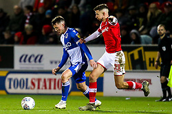 Ollie Clarke of Bristol Rovers takes on Dan Barlaser of Rotherham United - Mandatory by-line: Robbie Stephenson/JMP - 18/01/2020 - FOOTBALL - Aesseal New York Stadium - Rotherham, England - Rotherham United v Bristol Rovers - Sky Bet League One
