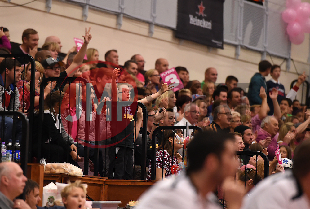 fans  - Photo mandatory by-line: Joe Meredith/JMP - Mobile: 07966 386802 - 10/10/2015 - BASKETBALL - SGS Wise Arena - Bristol, England - Bristol Flyers v Newcastle Eagles - British Basketball League
