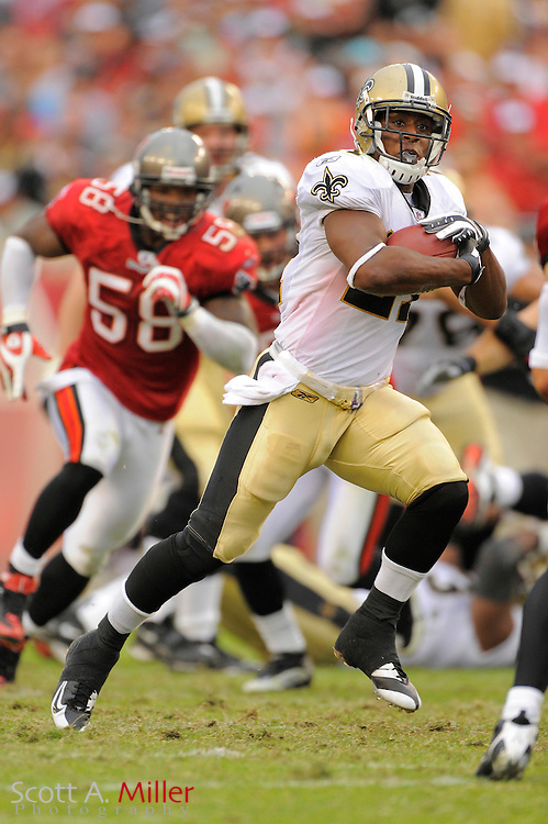 Nov. 22, 2009; Tampa, FL, USA; New Orleans Saints running back Mike Bell (21) during the Saints game against the Tampa Bay Buccaneers at Raymond James Stadium. ©2009 Scott A. Miller.© 2009 Scott A. Miller