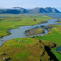 Ferjukot séð til suðurs, Hvítá,  Borgarbyggð áður Borgarhreppur / Ferjukot viewing south, river Hvita,  Borgarbyggd former Borgarhreppur.