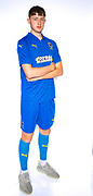 AFC Wimbledon Finlay Macnab (34) during the official team photocall for AFC Wimbledon at the Cherry Red Records Stadium, Kingston, England on 8 August 2019.