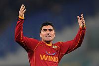 Fotball<br /> Italia<br /> Foto: Inside/Digitalsport<br /> NORWAY ONLY<br /> <br /> David Pizarro (Roma) celebrates <br /> <br /> 21.02.2009<br /> Roma v Siena (1-0)
