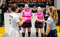 HAMBURG  (Ger) - 06  LMHC Laren v Club Campo de Madrid (Esp) (6-4)   foto: umpires Liz Clifford and Celine Martin-Schmets.     Eurohockey Indoor  Club Cup 2019 Women . WORLDSPORTPICS COPYRIGHT  KOEN SUYK