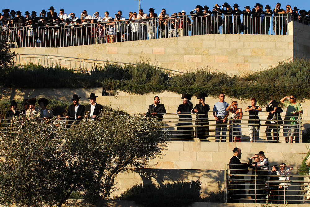 Ultra orthodox jewish demonstrate in Jerusalm agains opening Karta parting lot on Saturdays