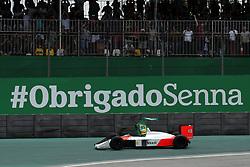 November 17, 2019, Sao Paulo, Brazil: xa9; Photo4 / LaPresse.17/11/2019 Sao Paulo, Brazil.Sport .Grand Prix Formula One Brazil 2019.In the pic: Bruno Senna (BRA) in the 1988 McLaren MP4/4 raced by Ayrton Senna. (Credit Image: © Photo4/Lapresse via ZUMA Press)