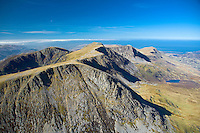 Cadair Idris (looking west toward Barmouth)<br /> Snowdonia<br /> Aerial<br /> Mid<br /> Scenery