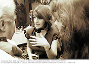 Josephine Hart. Book party given by Ed Victor. Frankfurt Book Fair. 1991. Film 91677f22<br />© Copyright Photograph by Dafydd Jones<br />66 Stockwell Park Rd. London SW9 0DATel 0171 733 0108