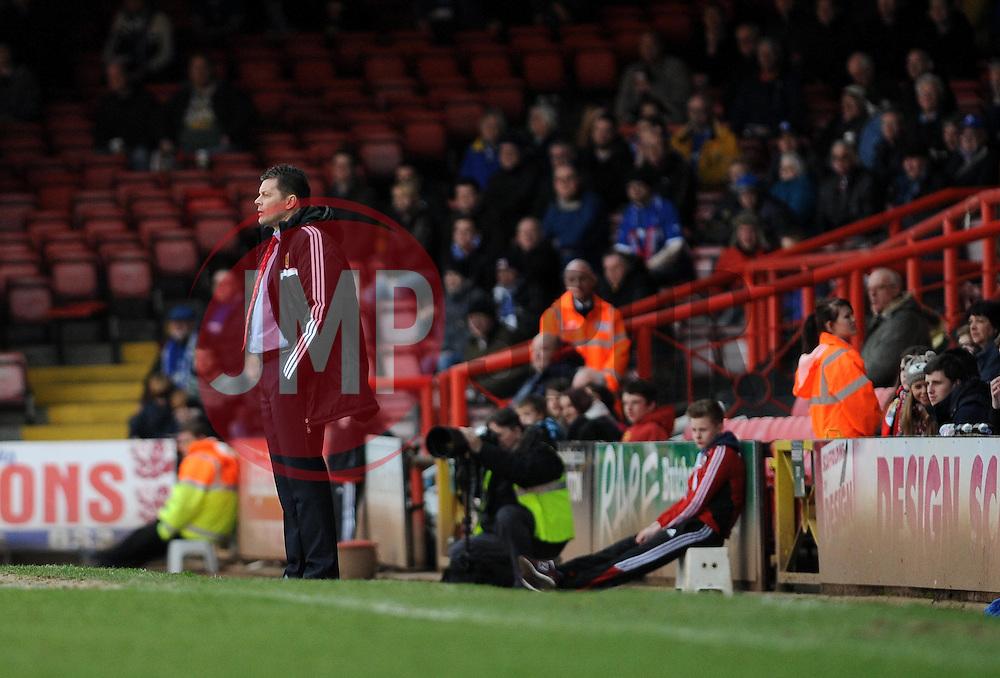 Bristol City manager, Steve Cotterill - Photo mandatory by-line: Dougie Allward/JMP - Tel: Mobile: 07966 386802 01/03/2014 - SPORT - FOOTBALL - Bristol - Ashton Gate - Bristol City v Gillingham - Sky Bet League One