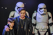 David Beckam's sons - The European Premiere of STAR WARS: THE FORCE AWAKENS - Odeon, Empire and Vue Cinemas, Leicester Square, London.