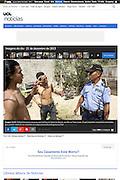 2013 12 21 Tearsheet UOL Community police East Timor