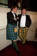CHRISTO SHEPHERD AND MARTIN GILBERT, The Royal Caledonian Ball 2008. In aid of the Royal Caledonian Ball Trust. Grosvenor House. London. 2 May 2008.  *** Local Caption *** -DO NOT ARCHIVE-? Copyright Photograph by Dafydd Jones. 248 Clapham Rd. London SW9 0PZ. Tel 0207 820 0771. www.dafjones.com.