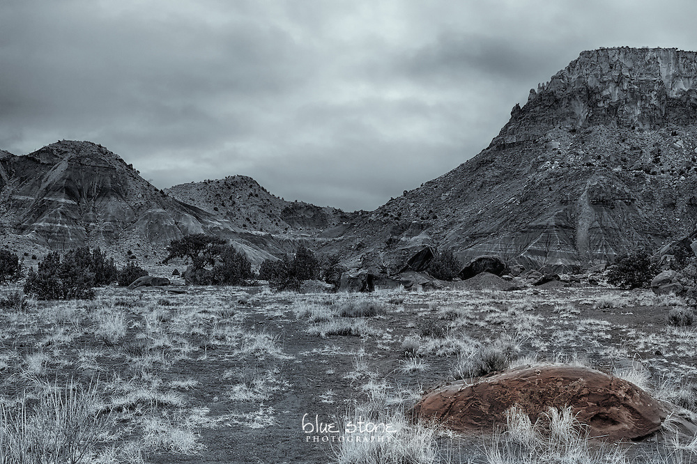 Red rock formation that is processed in black and white with selective coloring represents contentment with one's place in the world.<br /> <br /> Wall art is available in metal, canvas, float wrap and standout. Art prints are available in lustre, glossy, matte and metallic finishes.