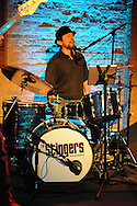CHICAGO- APRIL 21: The Stingers, a Chicago based classic rock R&B band perform at Goose Island Wrigleyville on April 21, 2012.