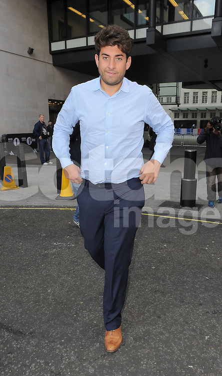 TOWIE star James Argent leaving BBC Radio 1 in central London, UK. 03/10/2014<br />BYLINE MUST READ : GOTCHAIMAGES.COM<br /><br />Copyright by &copy; Gotcha Images Ltd. All rights reserved.<br />Usage of this image is conditional upon the acceptance <br />of Gotcha Images Ltd, terms and conditions available at<br />www.gotchaimages.com