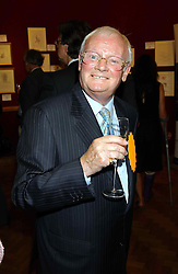 Actor JOHN INMAN at a private view and auction of a collection of paintings, drawings and doodles by well known personalities to mark the Book launch of Ackroyd's Ark in Christie's, 8 King Street, St.James's, London on 20th September 2004 in aid of Tusk Trust.<br /><br />NON EXCLUSIVE - WORLD RIGHTS