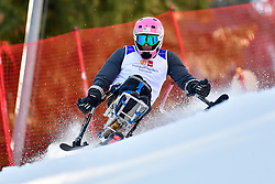 STEPHENS Laurie, LW12-1, USA, Slalom at the WPAS_2019 Alpine Skiing World Cup Finals, Morzine, France