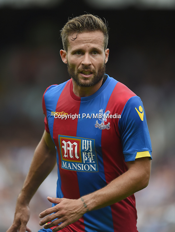 Crystal Palace's Yohan Cabaye of during the Pre-Season Friendly match at Craven Cottage, London.