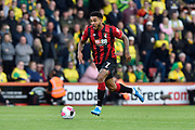 Joshua King (7) of AFC Bournemouth on the attack during the Premier League match between Bournemouth and Norwich City at the Vitality Stadium, Bournemouth, England on 19 October 2019.
