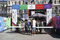 August 6, 2018 - Paris, FRANCE - Entree gay games securite (Credit Image: © Panoramic via ZUMA Press)